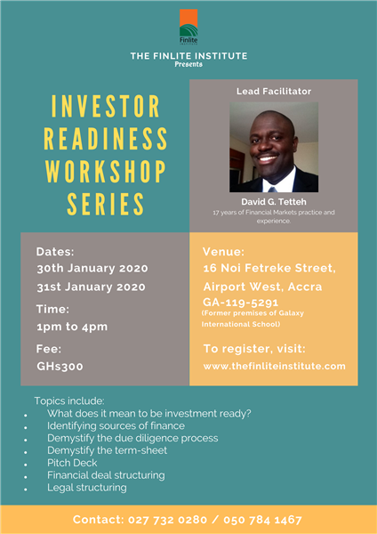 Investor Readiness Workshop Series