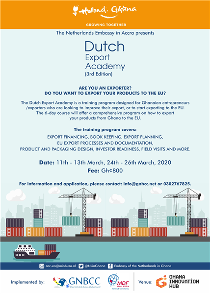 New Dates: The 3rd Edition of the Dutch Export Academy