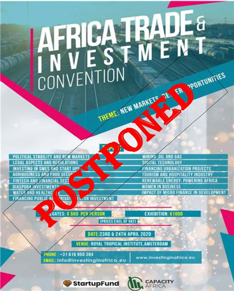Africa Trade and Investment Convention Postponed
