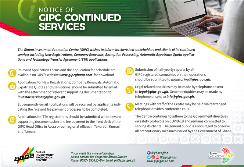 GIPC Notice - Continuation of Services