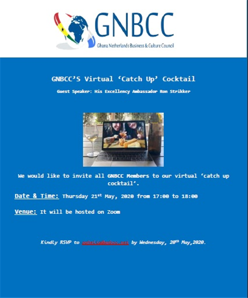 GNBCC'S Virtual 'Catch Up' Cocktail - Thursday, 21st May