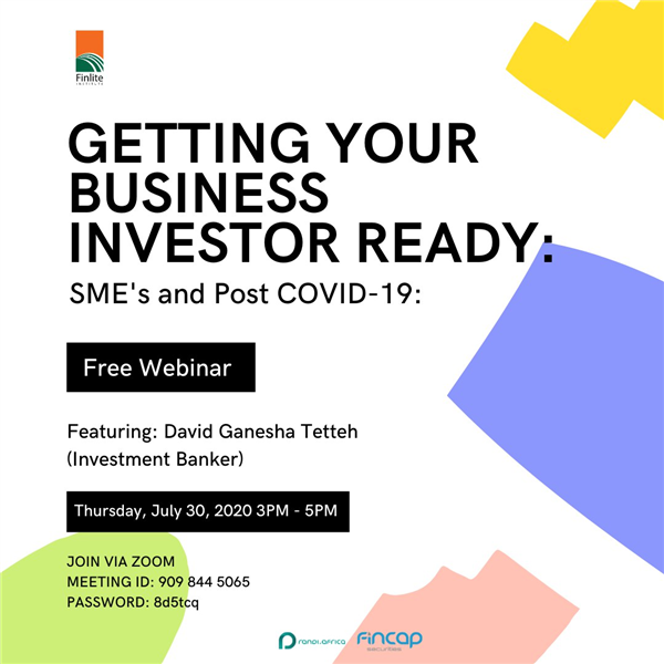Invite to Webinar: Getting Your Business Investor Ready
