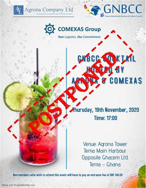 GNBCC Cocktail Hosted By Agrona & Comexas POSTPONED