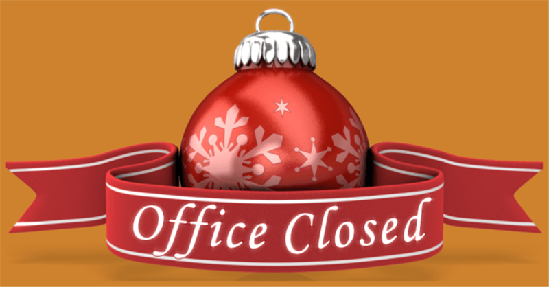 Announcement Of Closure Of Office For Holiday Break
