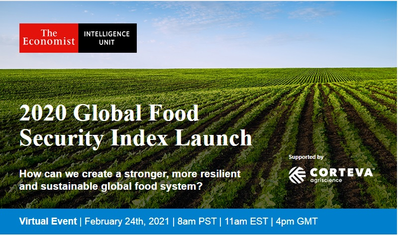 Virtual Event: 2020 Global Food Security Index Launch